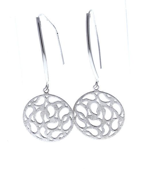 Round Disc Dangle Earrings