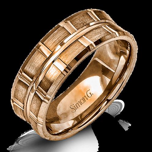 Simon G 18KT Gold Concave Band