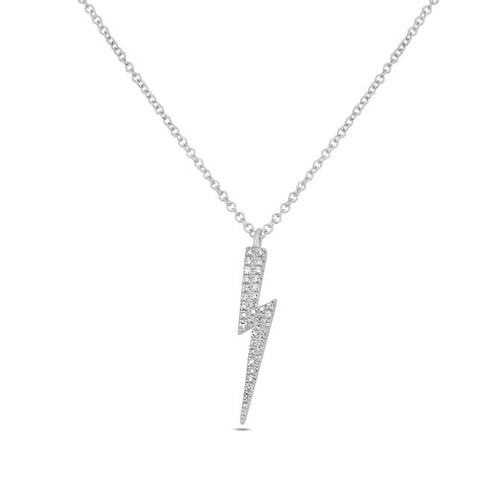 c80bf8a12128b Roman & Jules Diamond Lightning Bolt Necklace