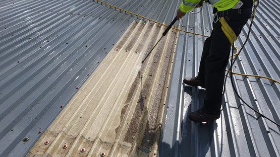 Industrial Rooflight Cleaning