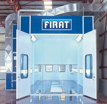 FIRAT COMMERCIAL SPRAY BOOTH OVEN LARGE  VEHICLE VAN MINIBUS TRUCK PAINT BODYSHOP painting spraying drying industrial