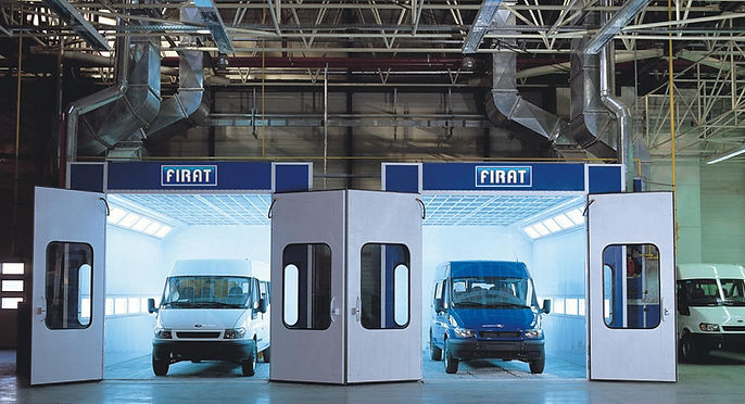 VAN MINIBUS CAR SPRAY BOOTH FBK MNB 7000 & 8000 spraying painting drying curing oven automotive