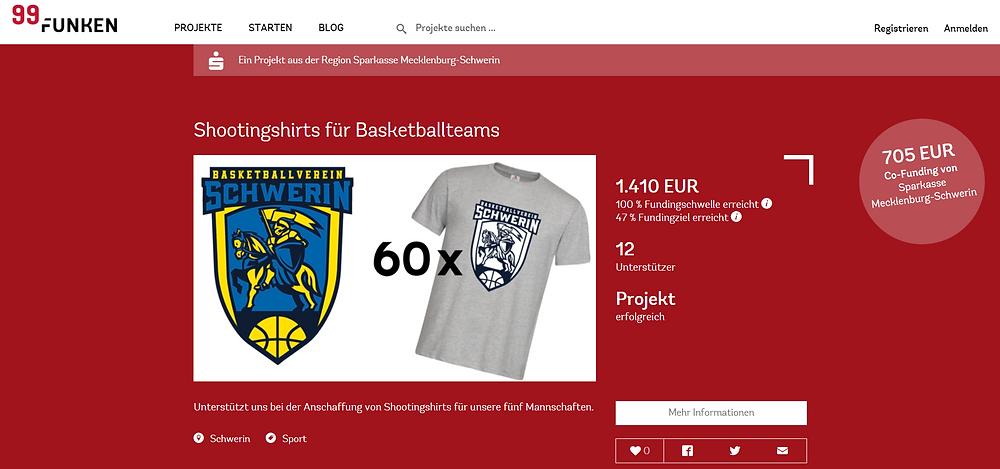 Crowdfunding-Projekt erfolgreich! | Basketball Schwerin