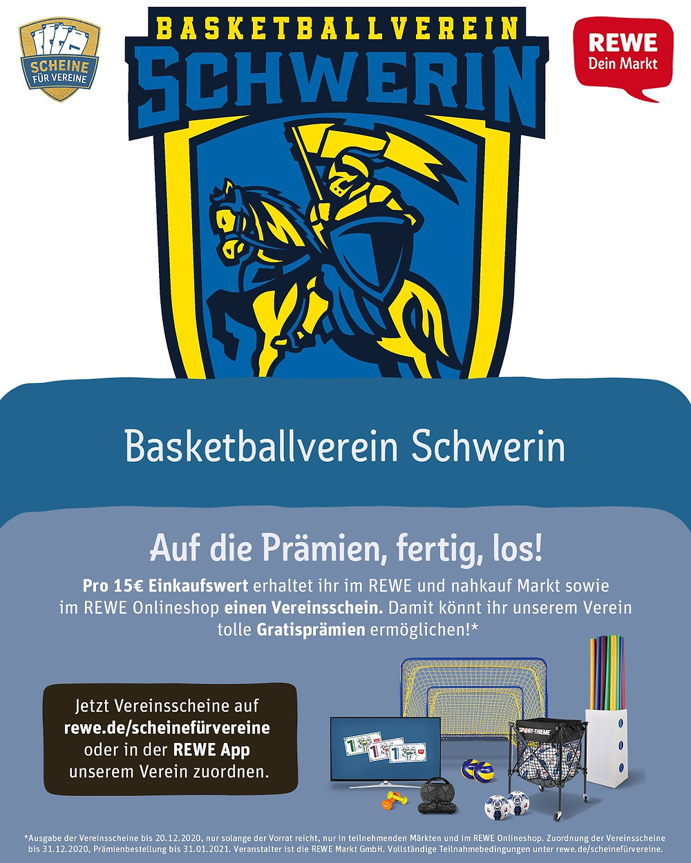 REWE Scheine für Vereine | Basketball Schwerin