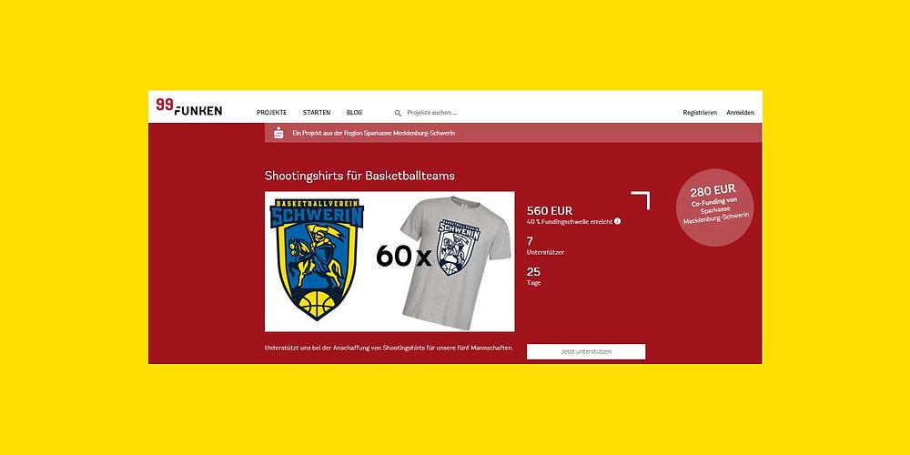 Crowdfunding-Projekt für den BV Schwerin   Basketball Schwerin