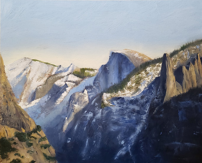 """""""Half Dome from Tunnel View"""" (20""""x24"""")"""