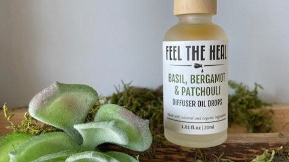 Diffuser Oil-Basil, Bergamot & Pachouli