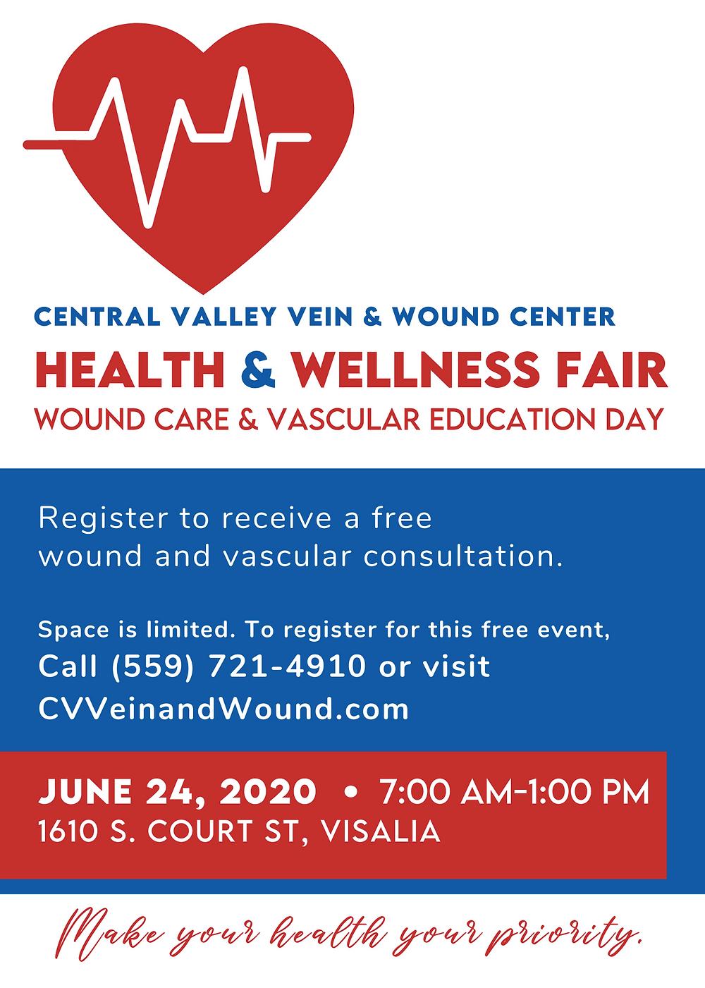 Visalia Health & Wellness Fair: Free Leg Wound Screening
