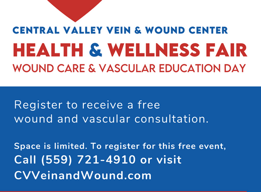 Free Foot & Lower Extremity Wound Screening at Central Valley Vein and Wound Center's Health Fair