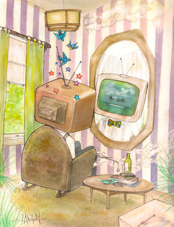 Television-Shaped Head