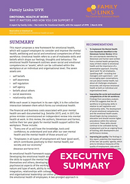 Executive Summary of Emotional Health at Work Report