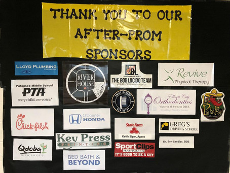 Thank you After-Prom Sponsors