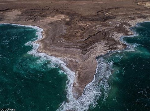 While driving down by the #deadsea I asked to stop on the side of the road to capture this shot with the drone.jpg