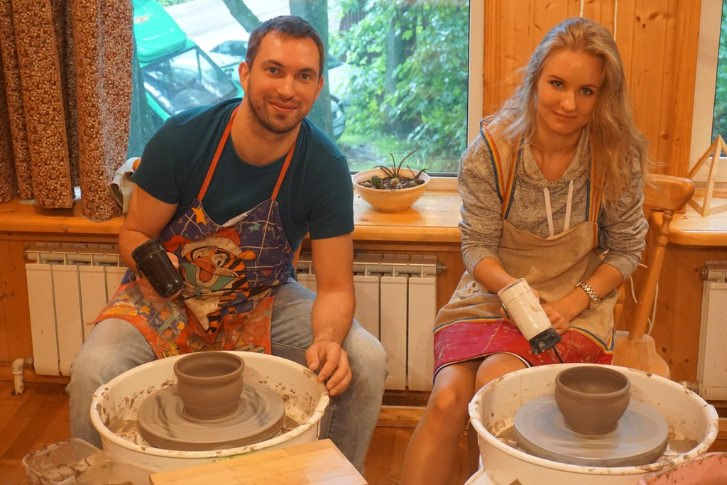Сергей и Ольга на занятиях