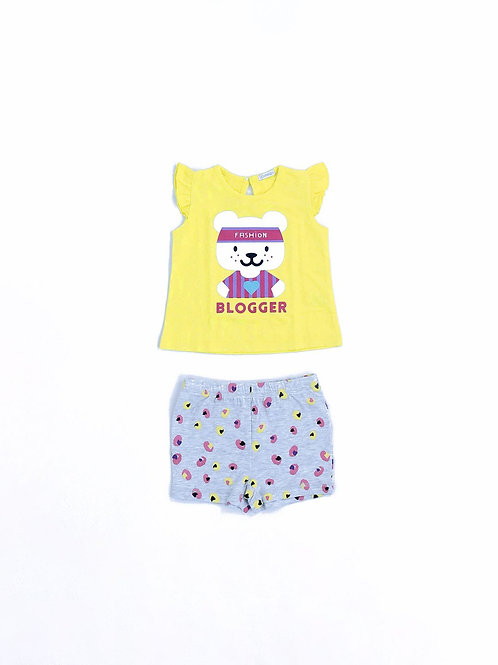 6069 SET TOP + SHORTS IN JERSEY