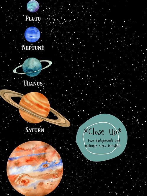 Planet Solar System Print