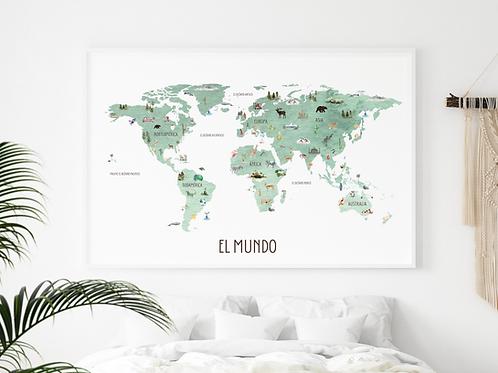 Spanish World Map | El Mundo