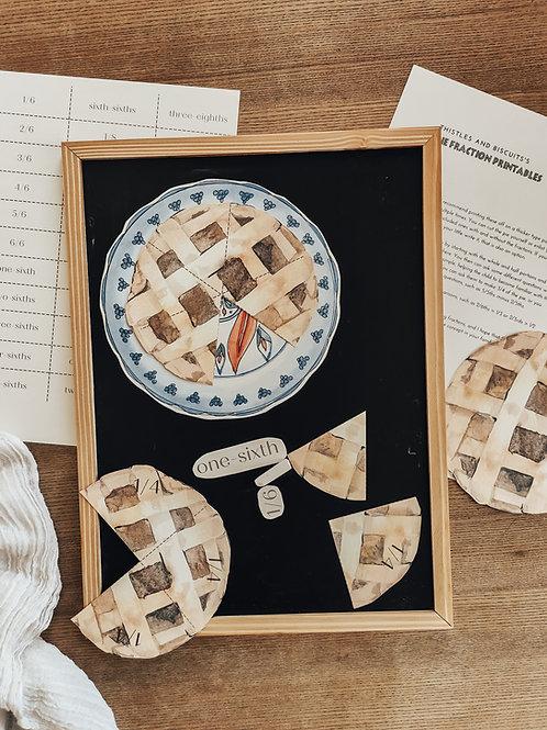 Pie Circle Fraction Set
