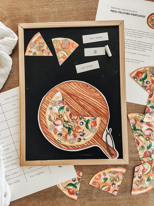 Pizza Circle Fraction Set