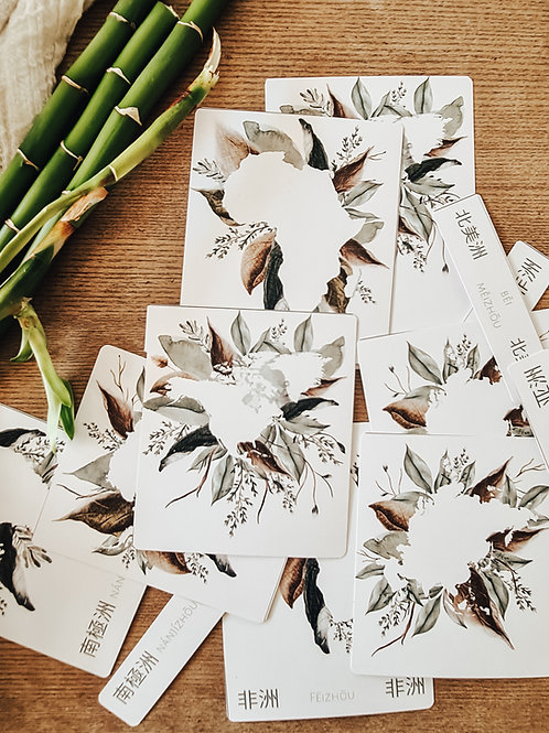 Mandarin Continent Cards