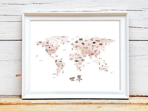 Mandarin Blush Map