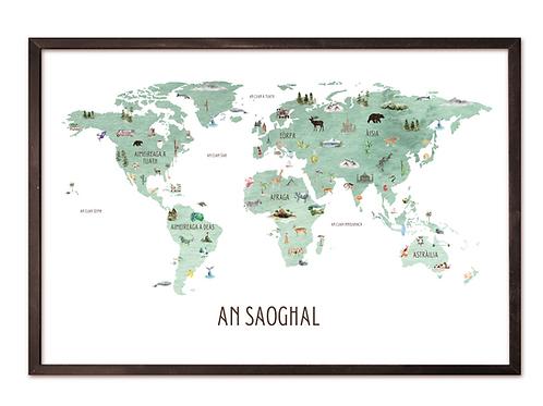 Scottish Gaelic World Map