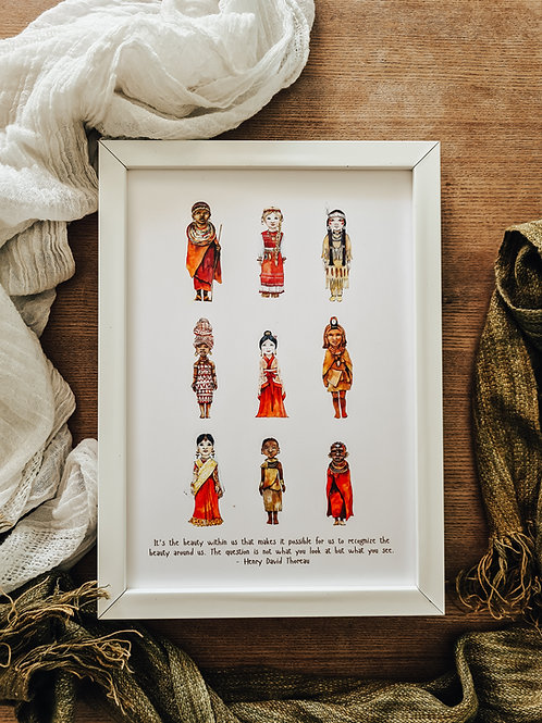 The Beauty Within Wall Print