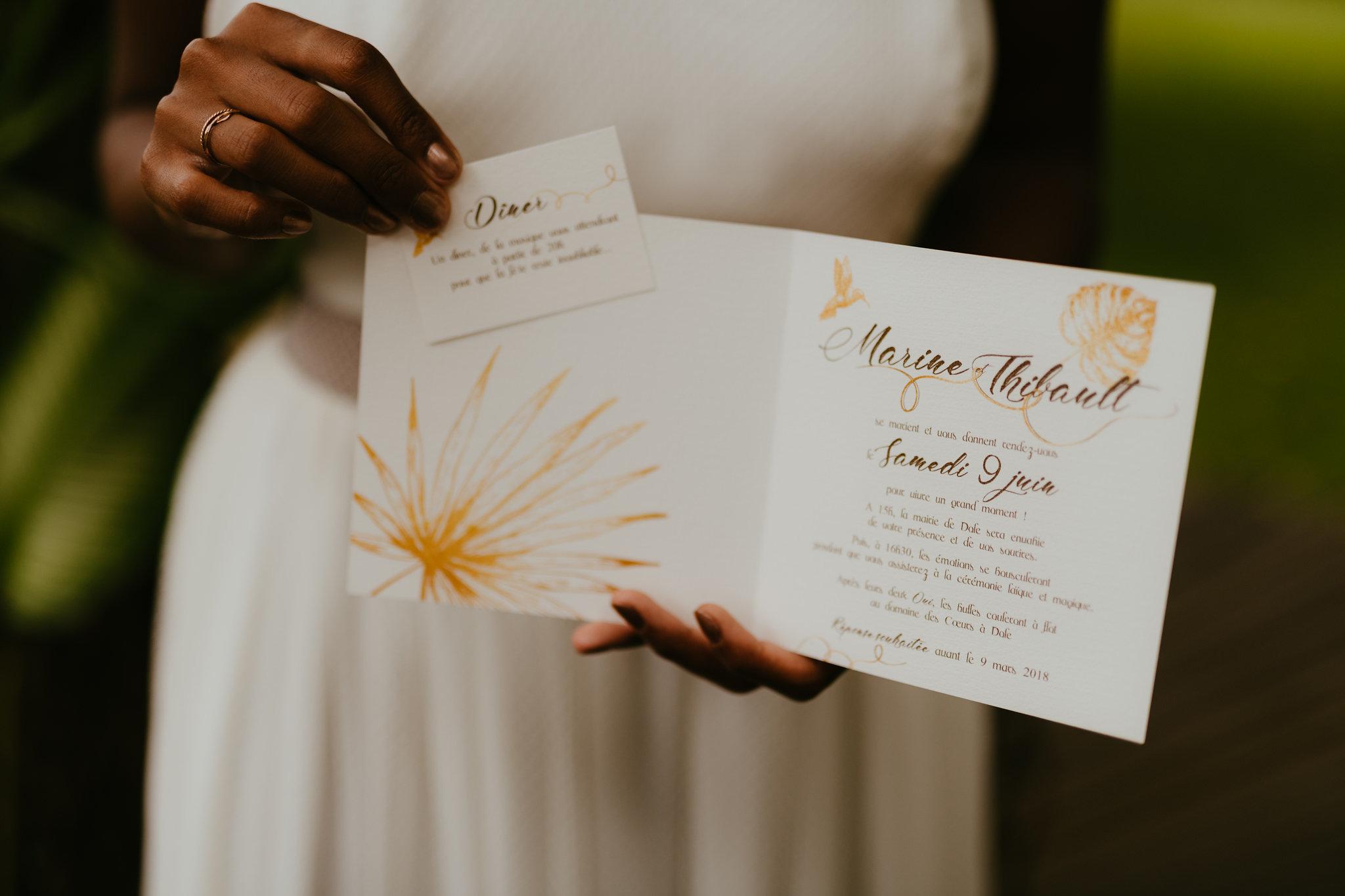 faire part mariage sur mesure dole
