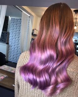lilac balayage