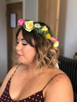 short flower headband