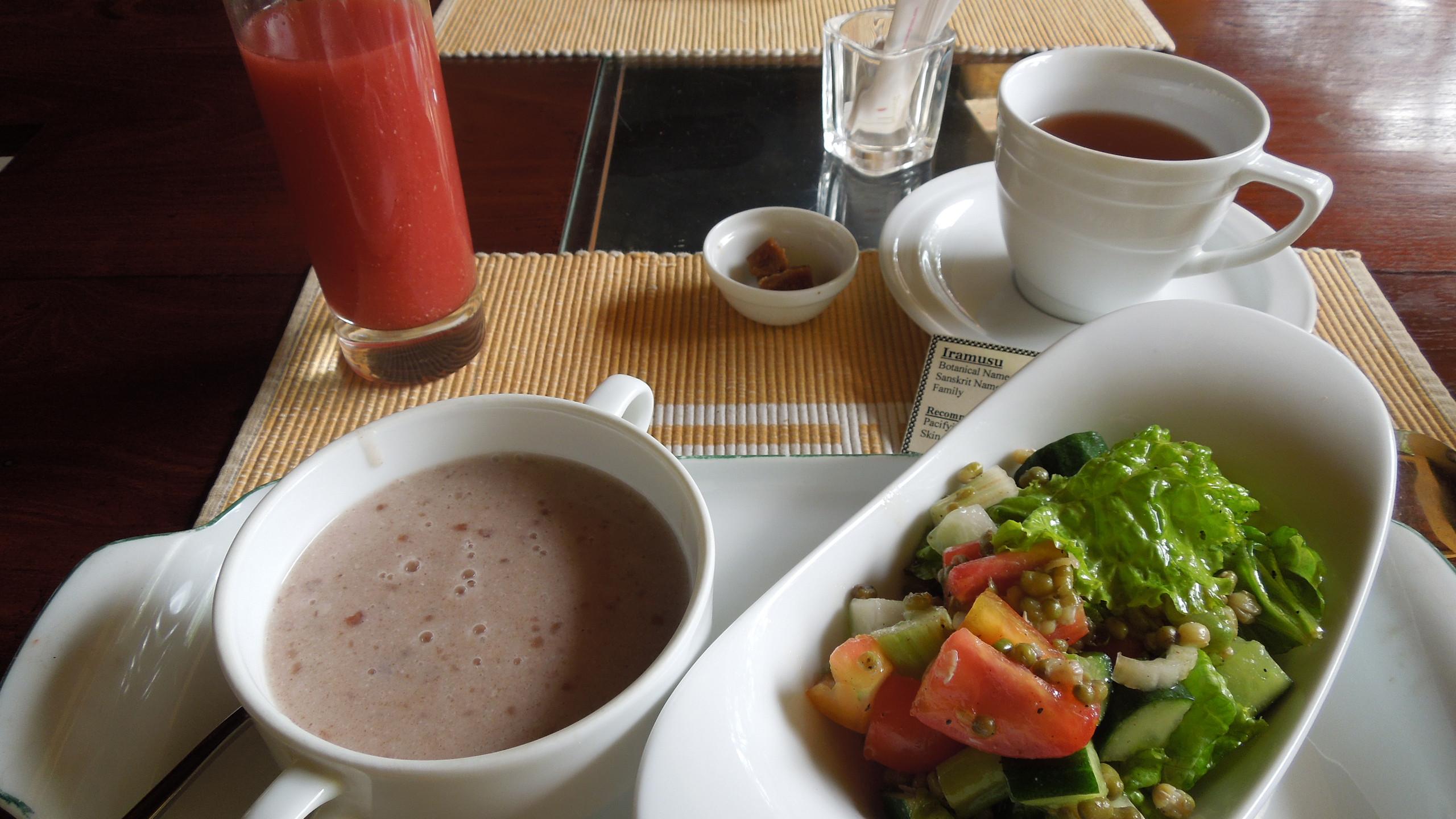 アーユルヴェーダの朝食