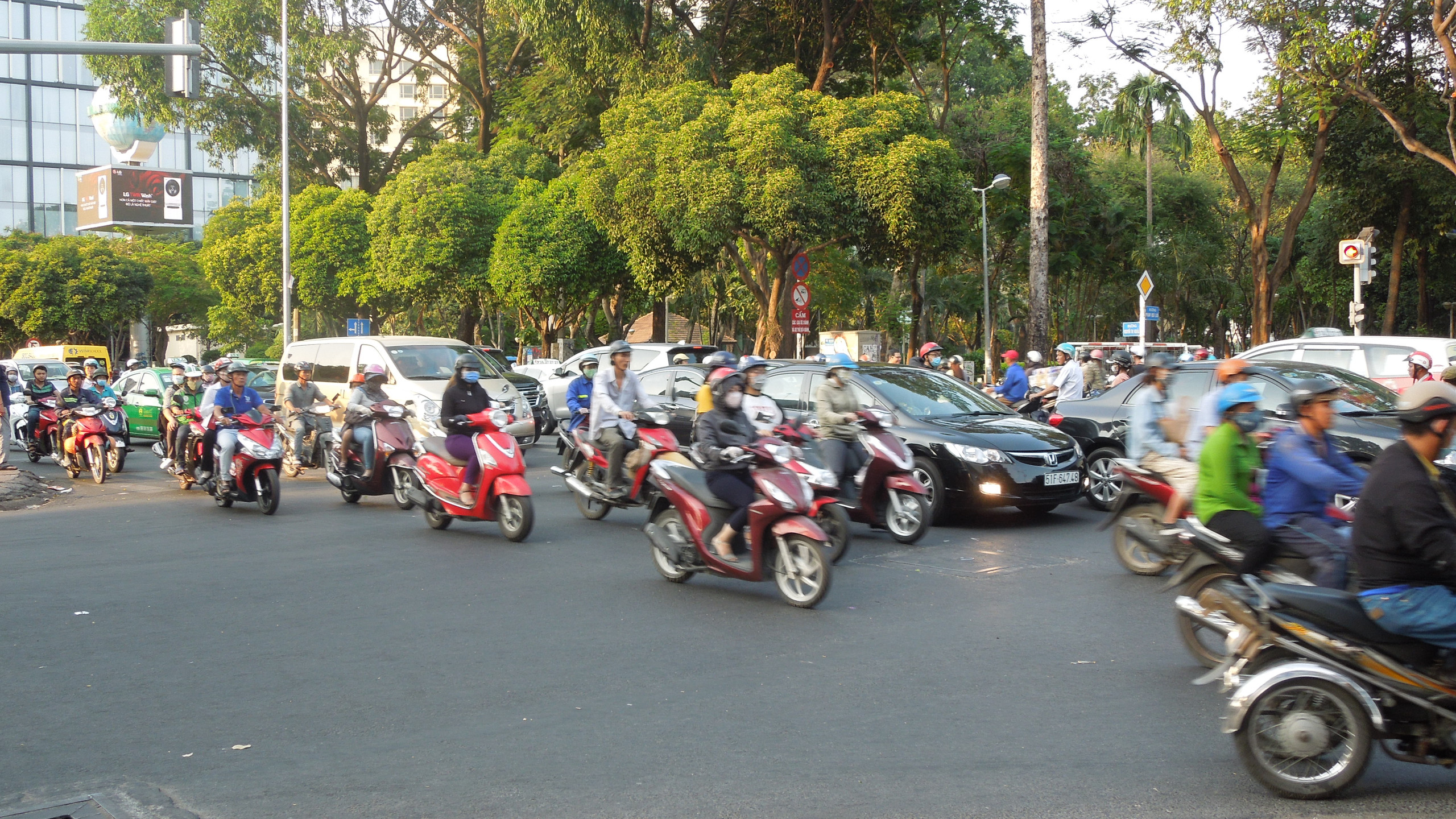 ベトナムの交通量