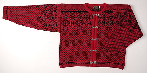 Red and Black Norskwear Cardigan w/clasps 09NRC