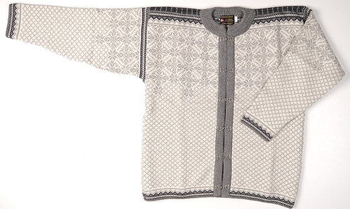 Gray and White Norskwear Cardigan w/clasps 14GWN