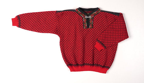 Kids Red Norskwear Pullover w/clasp