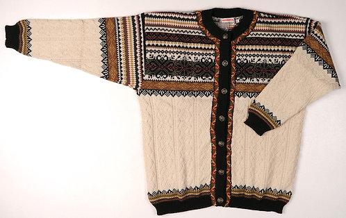 Cream Hybrid Norskwear Cardigan w/buttons