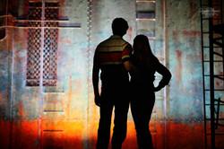 Aaron & Rachel silhouette