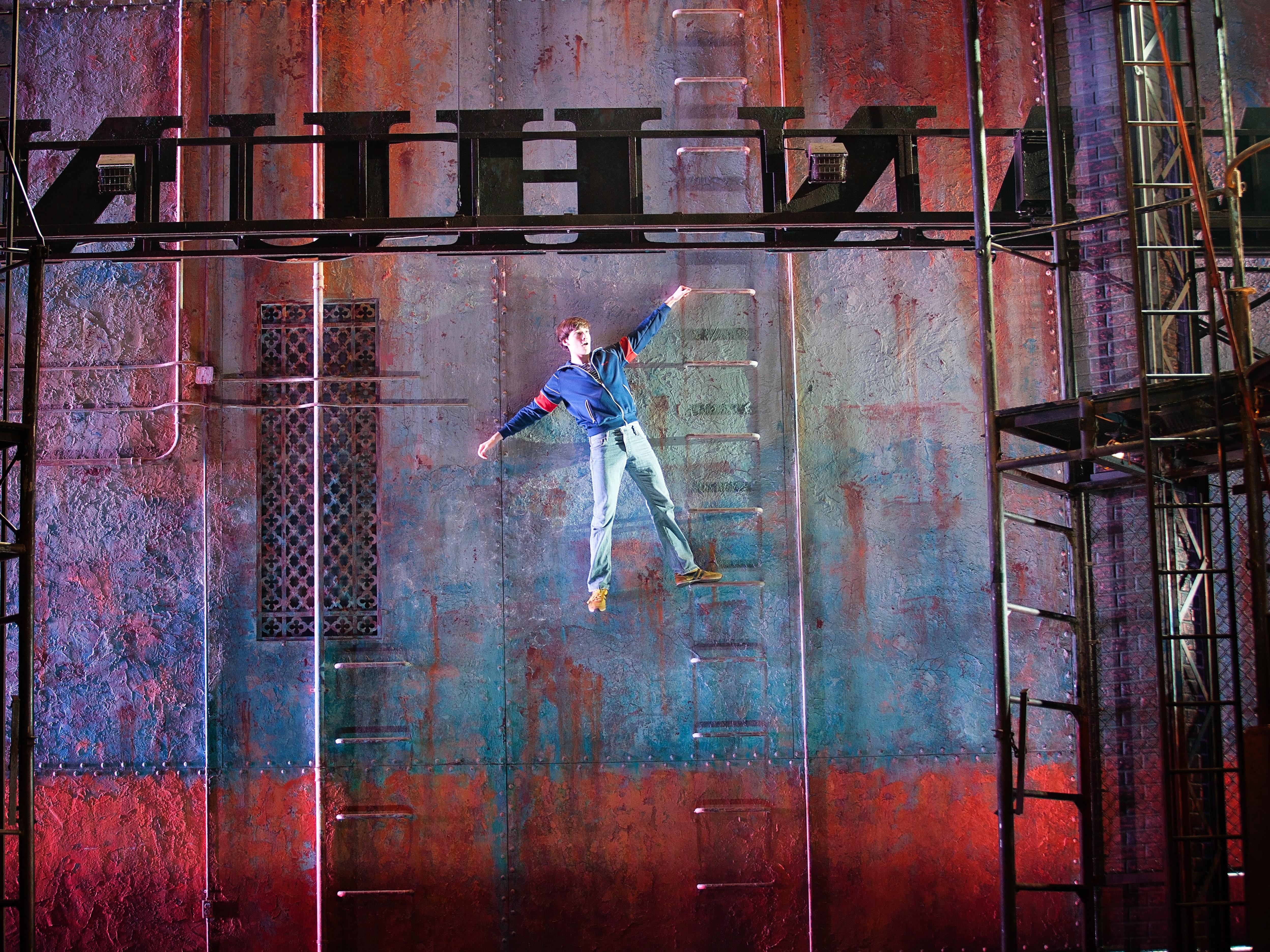 Tom on Ladder