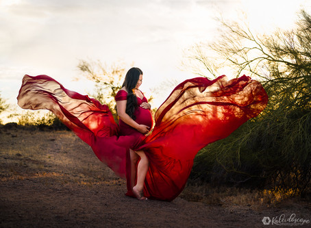 Maternity Session in Papago Park with Margie & Hugo