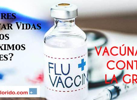 Quieres Salvar Vidas en los próximos meses? Vacúnate contra la Gripe.