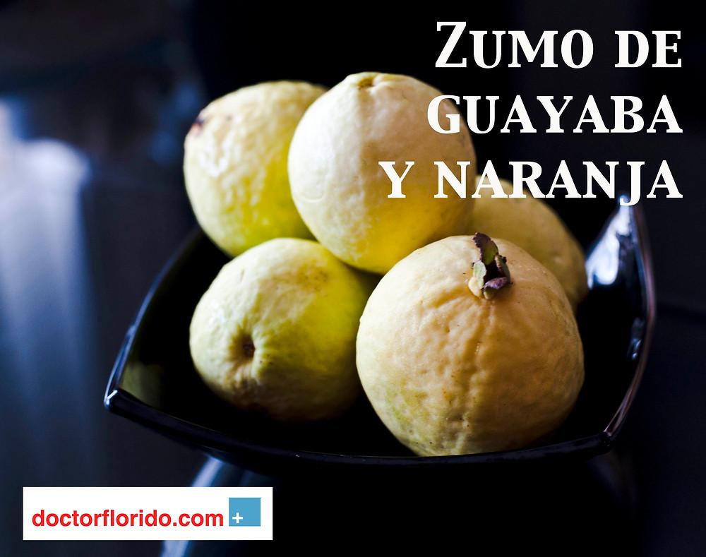 Zumo de Guayaba y Naranja.