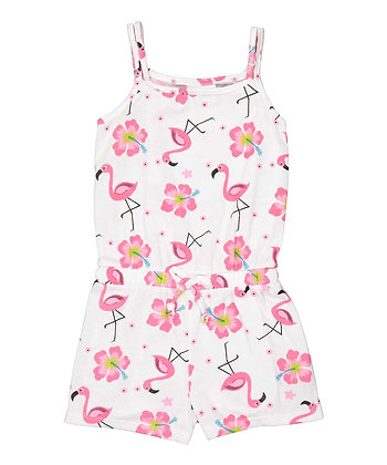 Flamingo Sleeveless Knit Romper - 2-4T