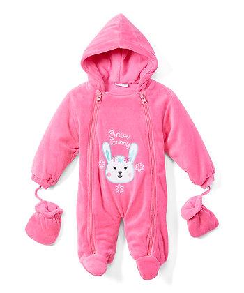 Fuchsia Snow Bunny Snowsuit - 0-9M