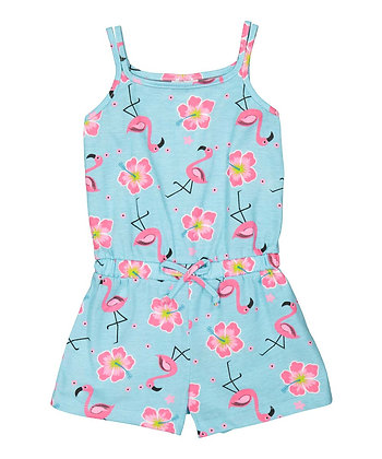 Flamingo Sleeveless Knit Romper - 4-6X