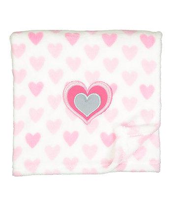 30'' x 40'' Pink Hearts Stroller Blanket