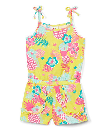 Pineapple Sleeveless Knit Romper - 2-4T