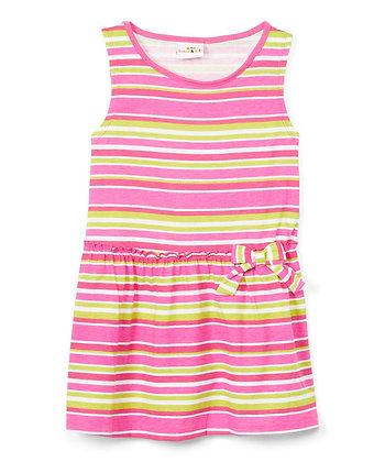 Stripe Tank Knit Dress - 4-6X