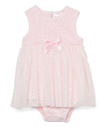 Dress Bodysuit with Lace Tutu Floral - 0-9M