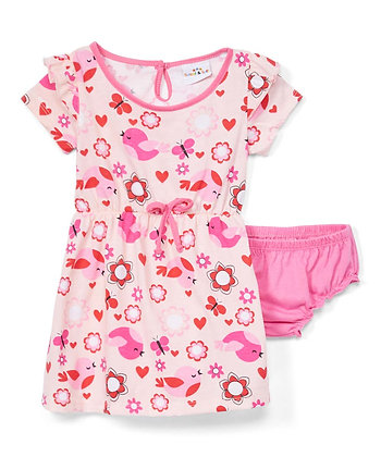 Chick Cap Sleeve Knit Dress With Panty - 12-24M