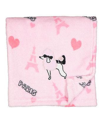 30'' x 40'' Pink 'Paris' Poodle Stroller Blanket